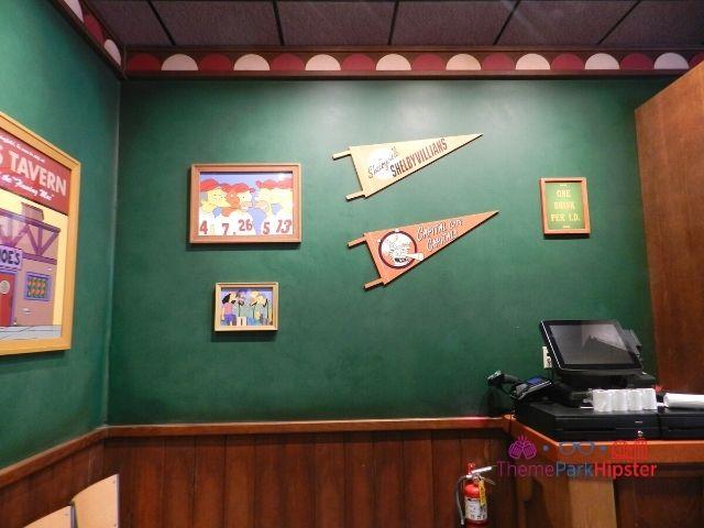 Moes Tavern Bar Area with Springfield Sports Memorabilia