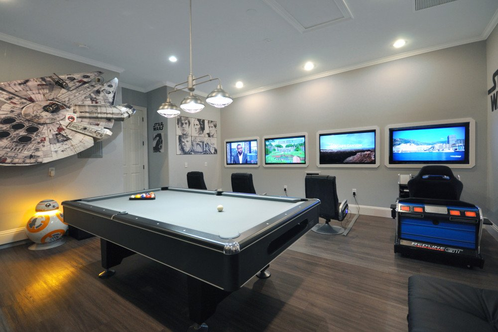 Star Wars themed game room Reunion at Resort