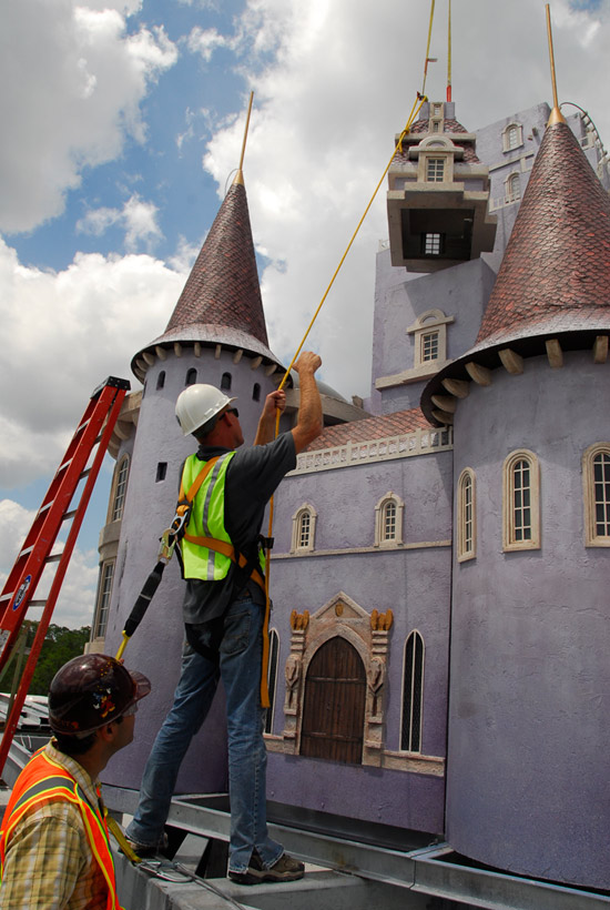 The Beast's Castle Construction from Disney Parks Blog 2