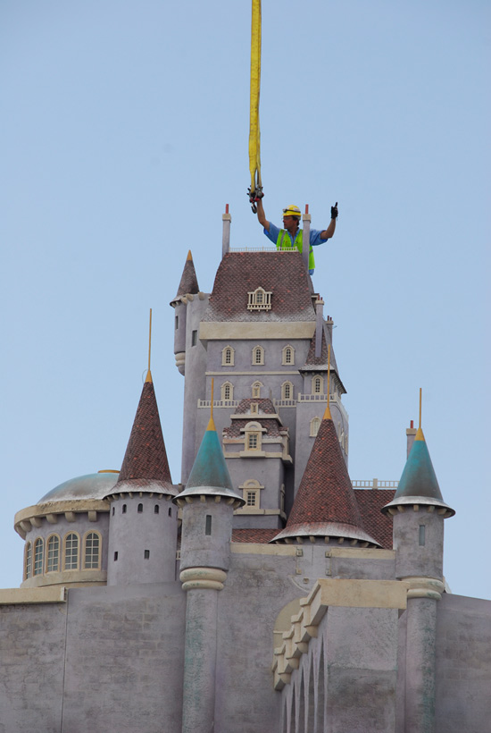 The Beast's Castle Construction from Disney Parks Blog
