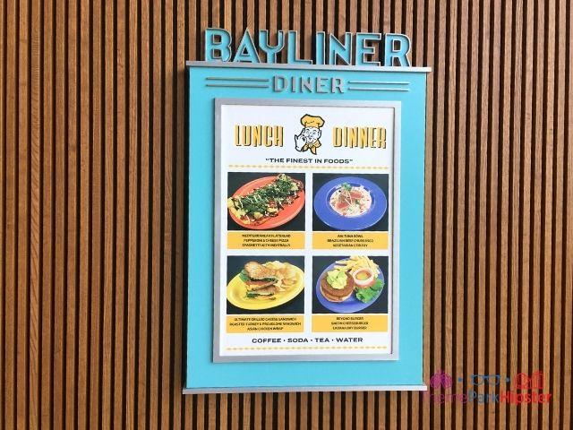 Bayliner Diner Menu