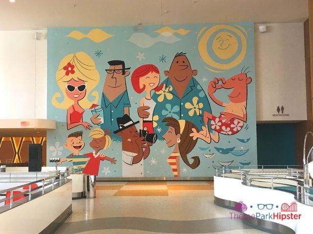 Universal Orlando Cabana Bay family mural