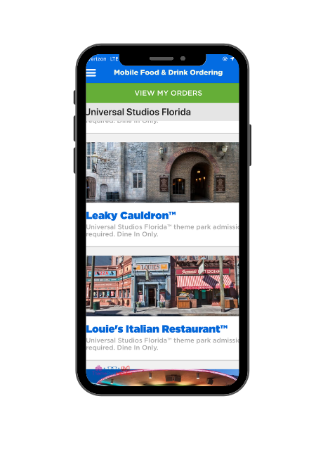 Universal Studios Mobile Order App 1