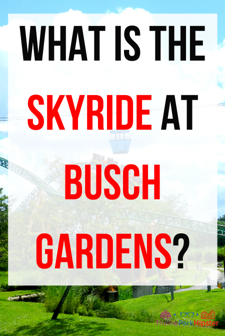 What is the skyride at Busch gardens