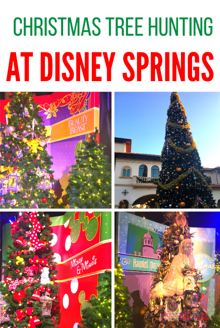 Christmas tree hunting at Disney Springs with Haunted Mansion Ghost Christmas Tree