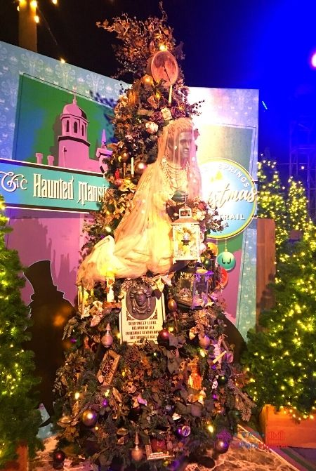 Disney Springs Christmas Tree Trail haunted mansion