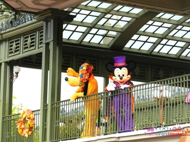 Magic Kingdom Halloween Mickey Mouse and Goofy in Costumes