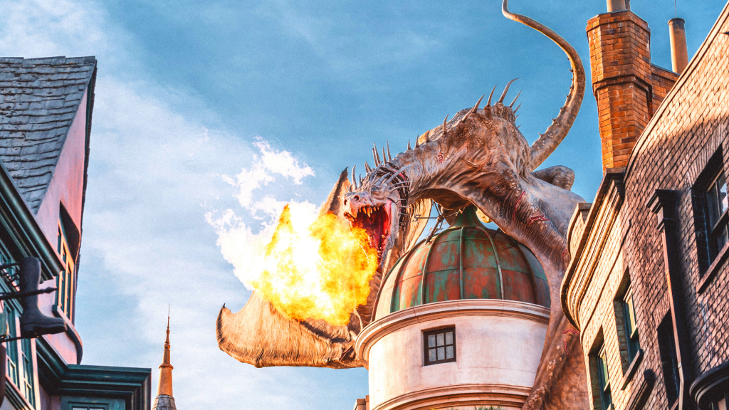 FREE Printable Guide for Planning your Universal Orlando Vacation with Dragon atop Grigotts Bank