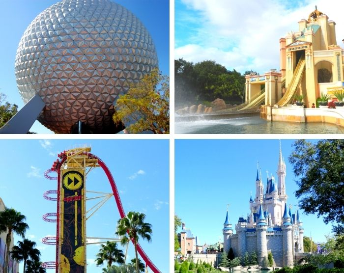 Best theme parks in Orlando Florida with Seaworld Epcot Magic Kingdom and Universal Studios