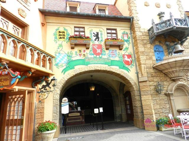 Biergarten Epcot entrance