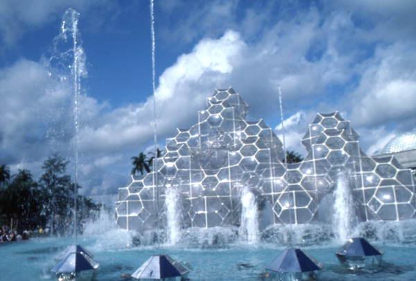 EPCOT Center water fountain at the Walt Disney World Resort in Orlando, Florida