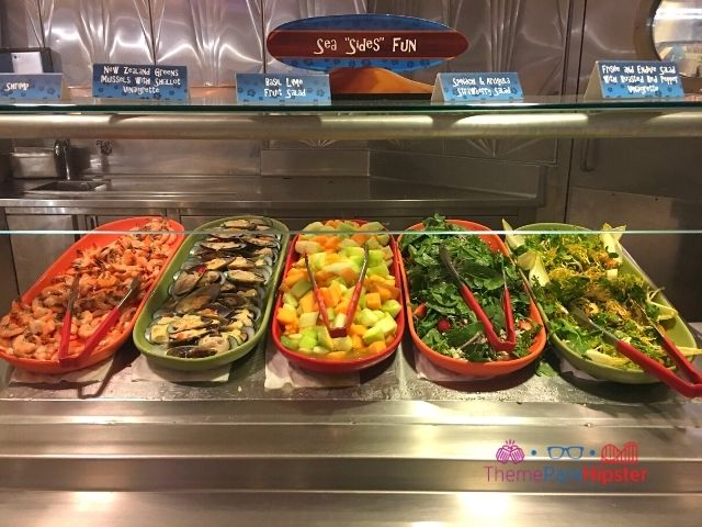 Fantasmic Dining Package at Disney Hollywood Studios with oysters at the salad bar