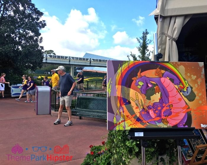 Figment Painting at Epcot Festival of the Arts