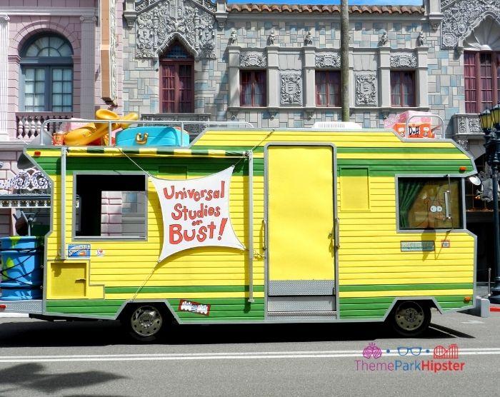 Simpsons family rv van at Universal Studios Florida