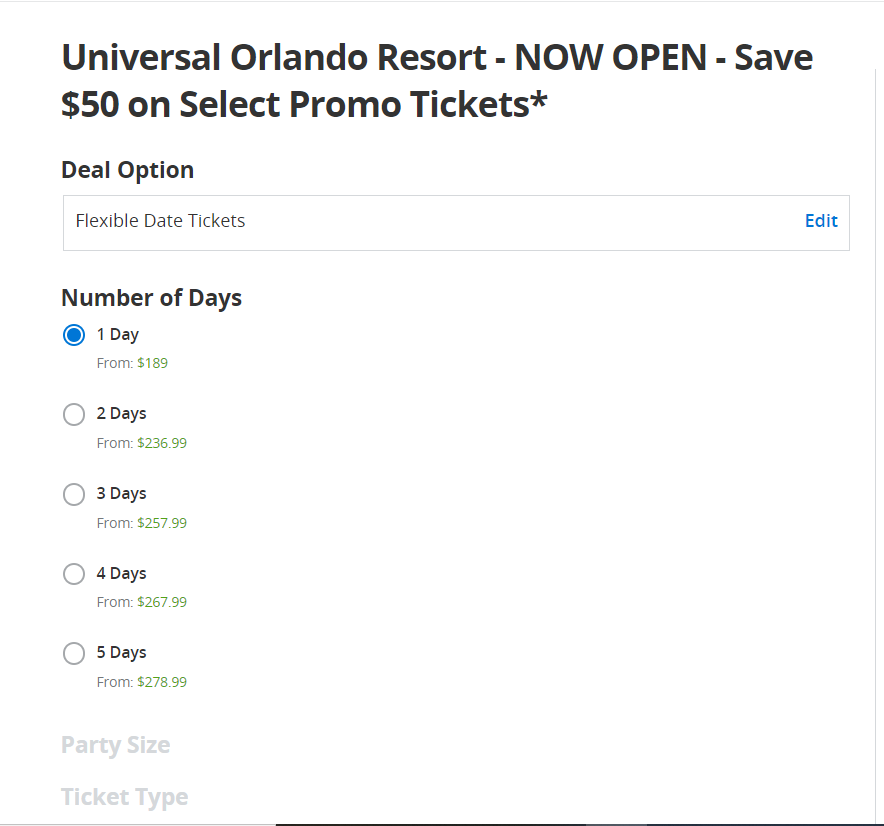 Universal Studios Groupon Tickets