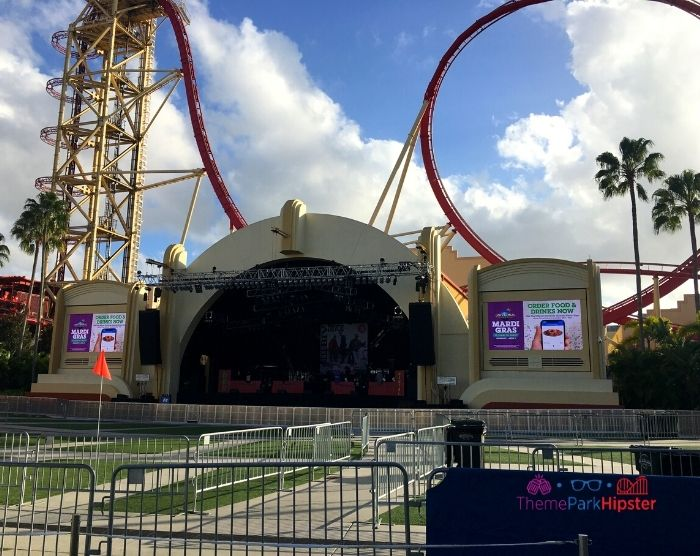 Universal Studios Concerts Stage at Mardi Gras