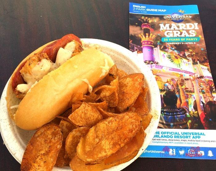 Universal Studios Mardi Gras Food Chicken Po Boy