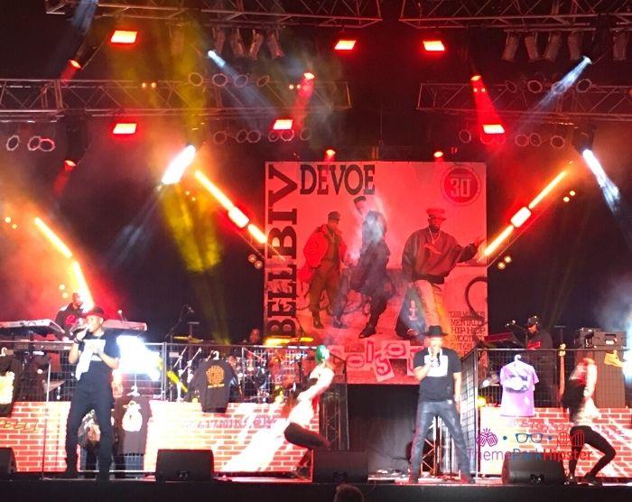 Universal Studios Mardi Gras Bell Biv Devoe performing on the stage