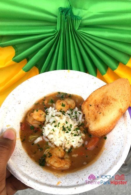 Universal Studios Mardi Gras Food Shrimp Jambalaya