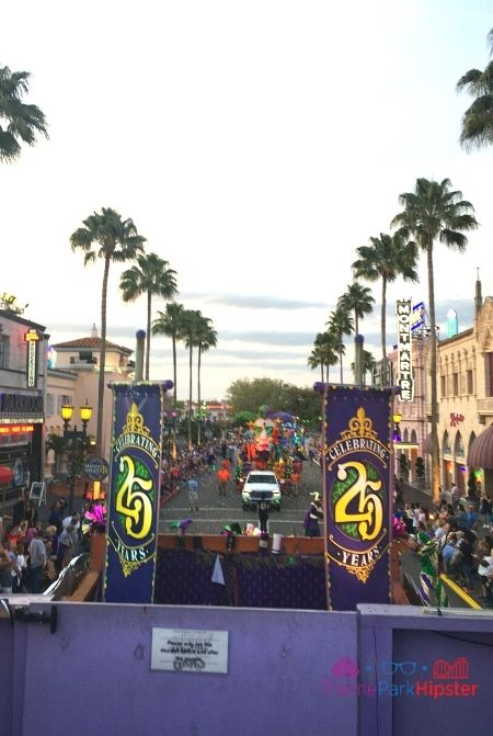 Universal Studios Mardi Gras View of parade from the float