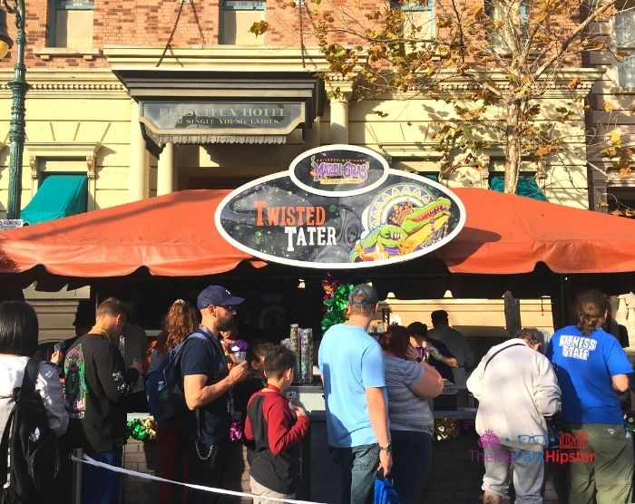 Universal Studios Mardi Gras French Twisted Tater Booth