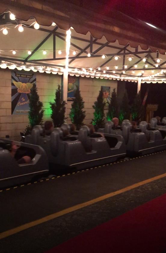 Aerosmith Rockin Roller Coaster red carpet
