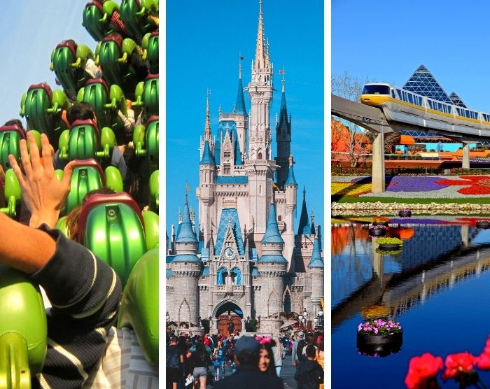 Best theme parks in Orlando Florida with Epcot Magic Kingdom and Universal Studios