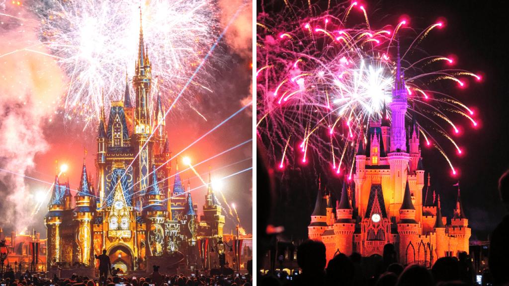 Disney fireworks show