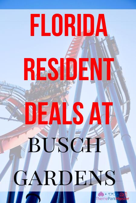 Florida resident deals at Busch Gardens