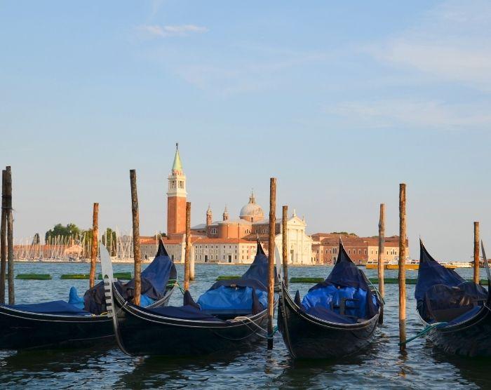 Italy Venice Rialto Gondola on waterway