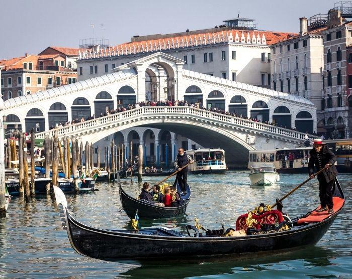Italy Venice Rialto Gondola