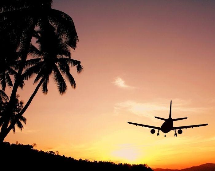 Jetlag with airplane gliding