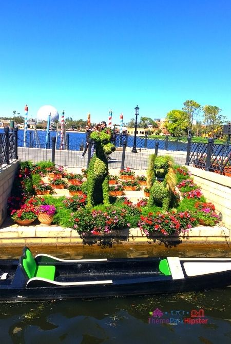 Lady in the Tramp Topiary in Epcot