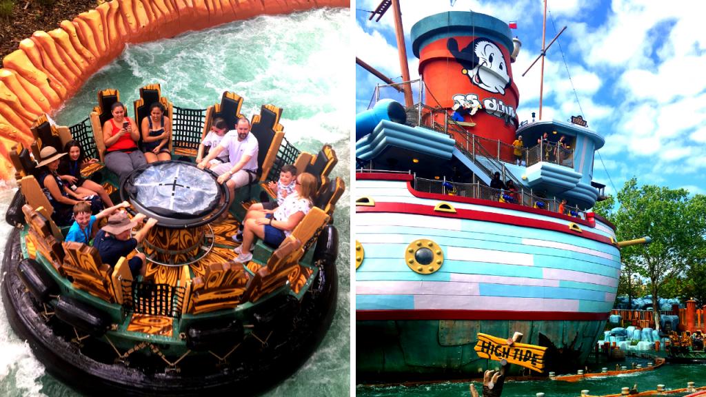 Popeye & Bluto's Bilge-Rat Barges. universal studios vs islands of adventure.