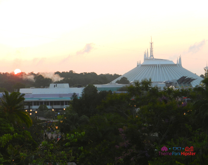 View of Space Mountain from Swiss Family Robinson Treehouse