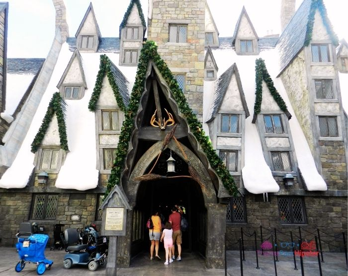 Front Entrance to the Three Broomsticks and Long Island Tea at Harry Potter World Universal