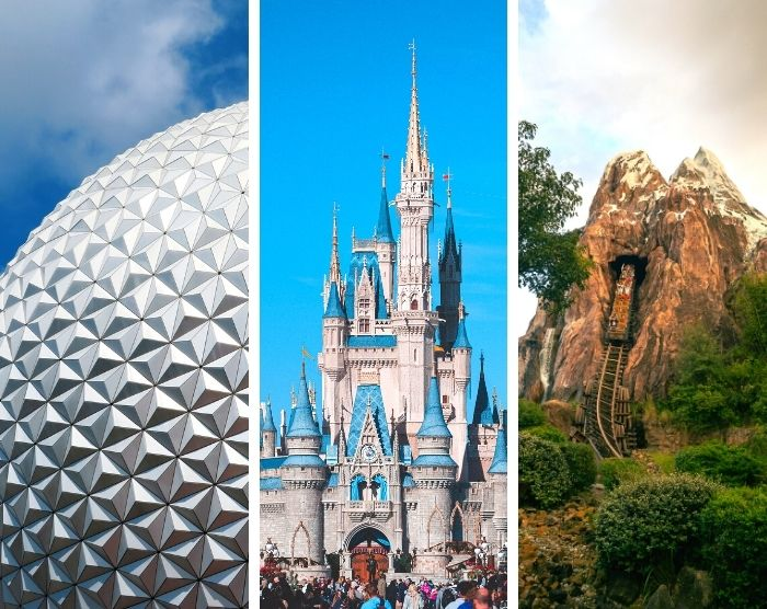 How big is Disney World with Spaceship Earth Cinderella Castle Mount Everest