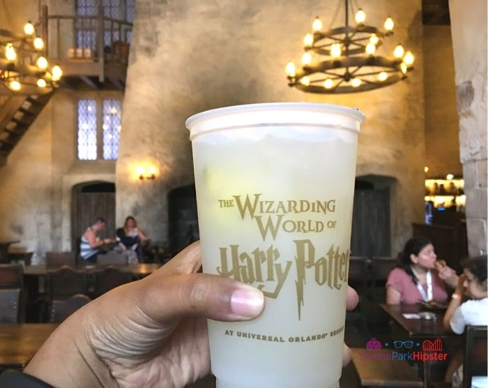 Lemonade drink in the Leaky Cauldron at Harry Potter World Universal