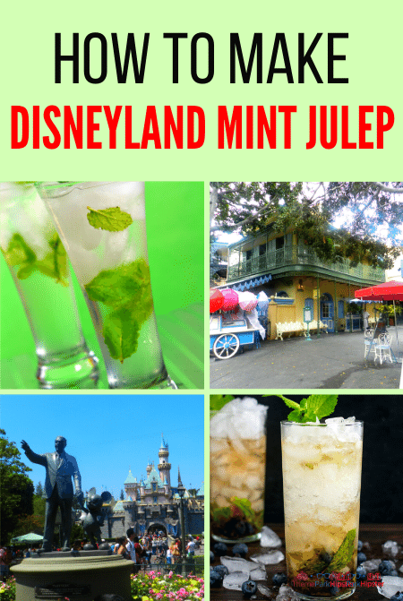 Mint Julep Drink at Disneyland