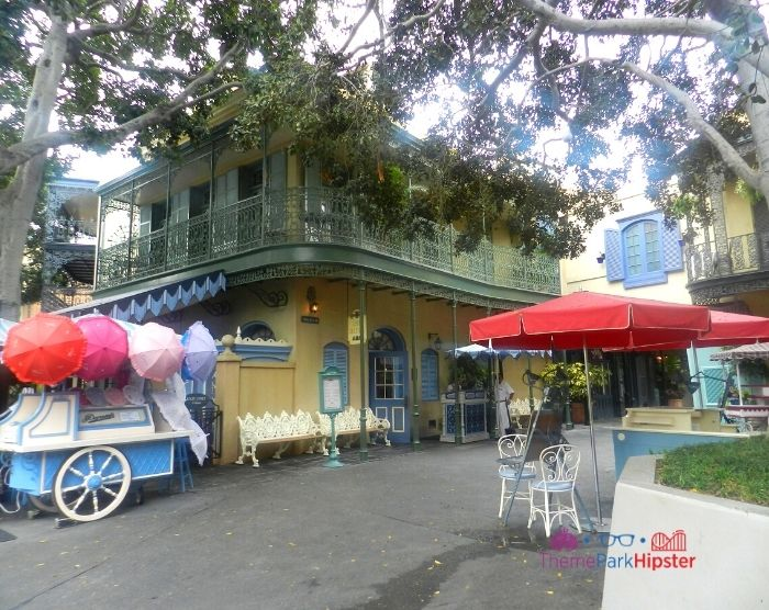 New Orleans Square at Disneyland with carriage cart