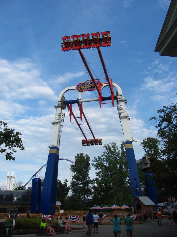 Cedar Point Skyhawk Ride in the Ohio Sky
