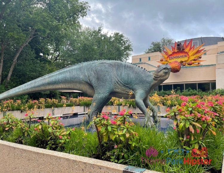 DINOSAUR Entrance with Dinosaur in the garden at Animal Kingdom