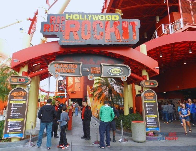 Hollywood Rip Ride Rockit at Universal Studios Entrance