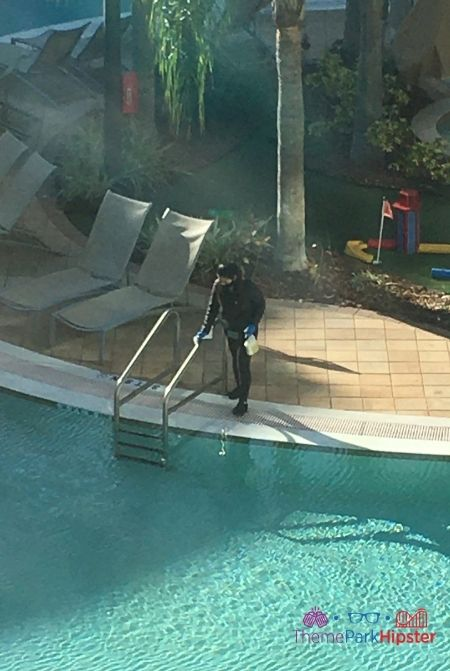 Melia Orlando Worker Cleaning