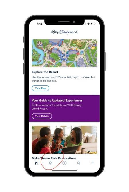 My Disney Experience App Home Page