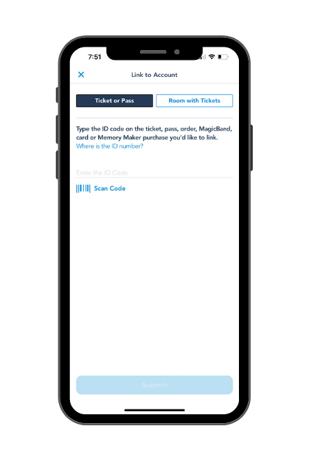 My Disney Experience App How to Link Magic Band or Tickets