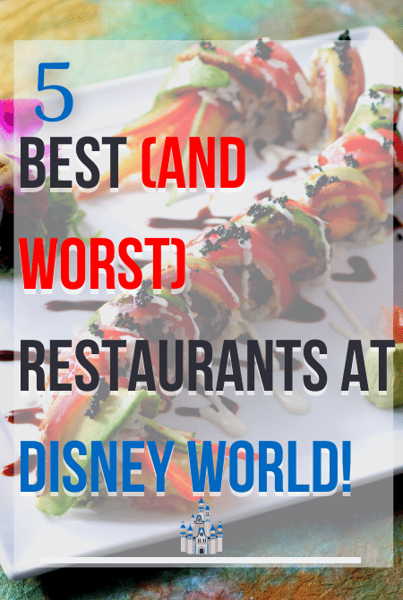 Best Disney Restaurants (and worst) that you should know with sushi on white plate.