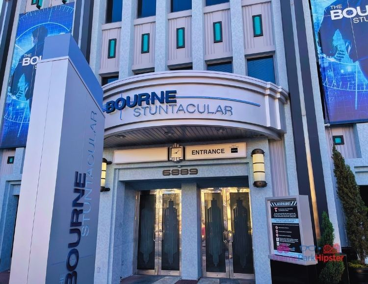 Bourne Stuntacular Entrance at universal Studios Florida. universal studios vs islands of adventure.