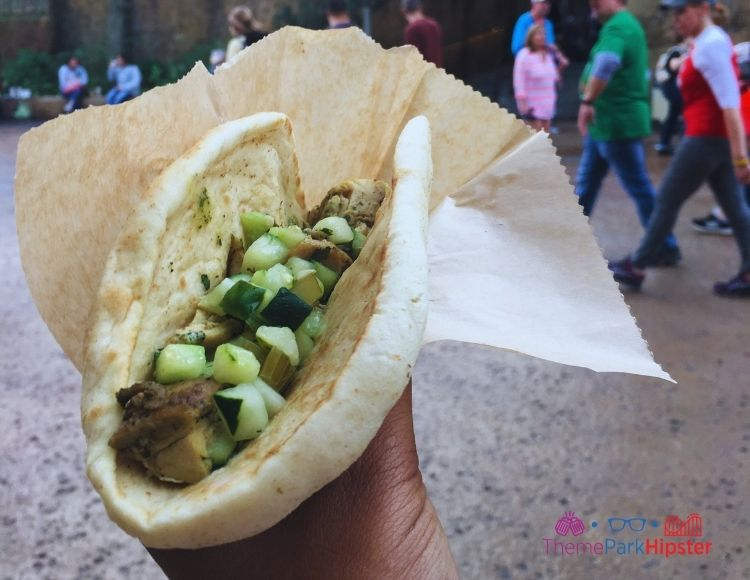 Breakfast Wrap at Ronto Wraps at Disney World.