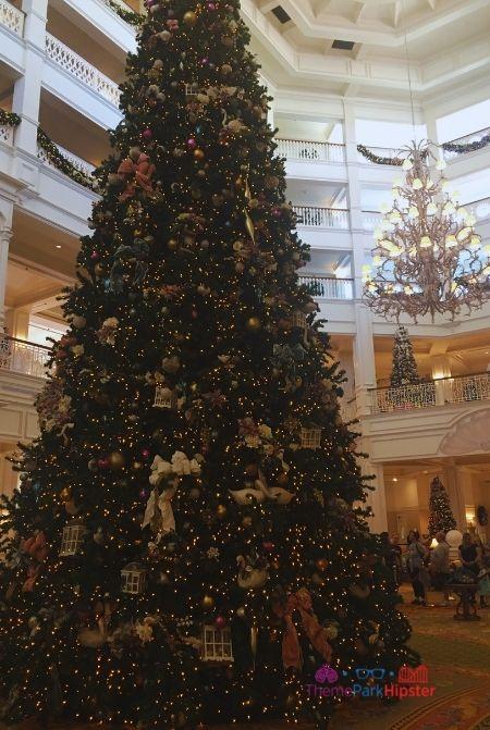 Christmas Tree in Grand Floridian Resort at Disney